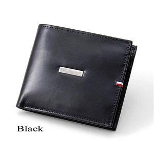 TOMMY HILFIGER (トミーフィルフィガー) 二つ折財布 DEERFIELD 0096-5169 Black