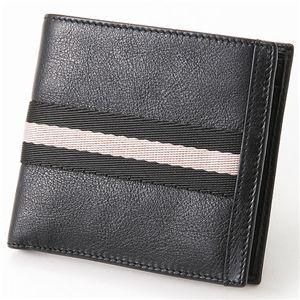 BALLY(バリー) ふたつ折り財布 TIEN TN90・Black