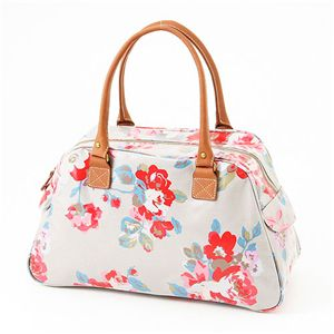 Cath Kidston バッグ  Bowling Bag With Leather  230728 Autumn Flowers Stone