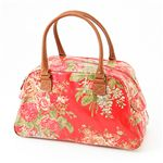 Cath Kidston バッグ  Bowling Bag With Leather  230735 Afghan Flowers Red
