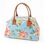 Cath Kidston バッグ  Bowling Bag With Leather  230308 Box Floral Blue