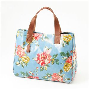 Cath Kidston バッグ STAND UP TOTE with LEATHER  230087 Box Floral Blue
