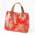 Cath Kidston バッグ STAND UP TOTE with LEATHER  230117 Afghan Flowers Red