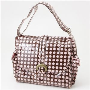 Kalencom マザーバッグ LAMINATED BUCKLE HEVENLY DOTS Pink