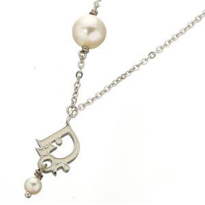Christian Dior(クリスチャン ディオール) ネックレス D21742 ロゴ×パール