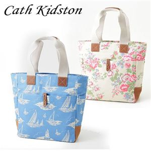 CATH KIDSTON(キャスキッドソン) 縦型トート TALL TOTE WITH LEATHER 244718・Boat Royal Blue