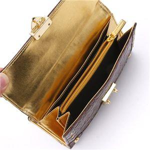 LANEVE(ランイヴ) クロコ型押し財布 LE-5006 ブラウン
