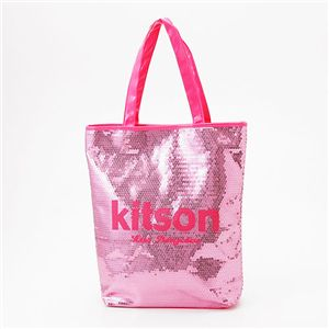 kitson(キットソン) スパンコール 縦型トートバッグ ピンク