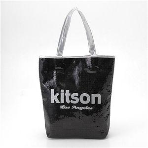 kitson(キットソン) スパンコール 縦型トートバッグ ブラック