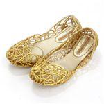 melissa(メリッサ) ラバーシューズ CAMPANA IV Gold Glitte EUR 38(24.0-24.5cm)