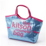 kitson(キットソン) スパンコールコスメティックバッグ(SEQUIN COSMETIC TOTE)KSG0148 Blue×Pink