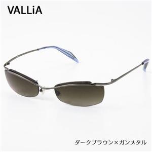 VALLiA サングラス 103-2 ダークブラウン×ガンメタル