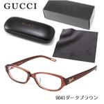 GUCCI ダテメガネ 9041J-C6Y/9041・ダークブラウン(セリート、ギフトBOX、ケース付属)