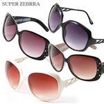 SUPER ZEBRA(スーパーゼブラ) サングラス BS1377/オレンジブラウングラデーション×オフホワイト