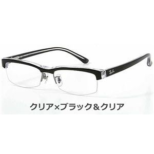 RayBan(レイバン) ダテメガネ RX5155-2034/クリア×ブラック&クリア