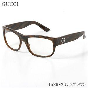 GUCCI(グッチ) サングラス 1586-2B7/99/1586・クリア×ブラウン