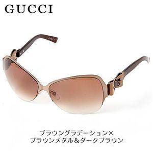 GUCCI(グッチ) サングラス 2821F-HBC/5E/ブラウングラデーション×ブラウンメタル&ダークブラウン