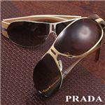 PRADA(プラダ) サングラス 60HS-5AK6S1/ブラウン×ベッコウ&ゴールド