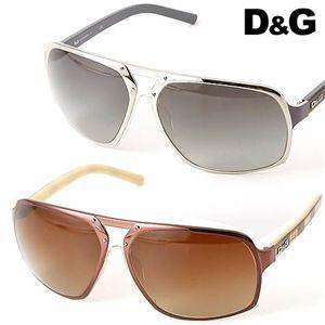 D&G サングラス 6050-323/8G ライトスモークグラデーション×シルバー&ネイビーチェック