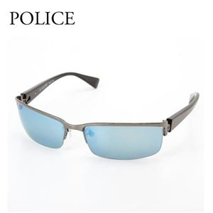 POLICE サングラス 8094-568B ブルーミラー×ガンメタル&ブラック