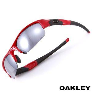 OAKLEY(オークリー) 「FLAK JACKET」 ユニセックスサングラス FLAK JACKET-LIP STICK RED/BK/ブラック×レッド