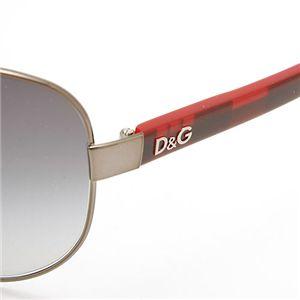 D&G(ディー・アンド・ジー) サングラス 6053-328/8G ライトグレーグラデーション×シルバー&レッドチェック