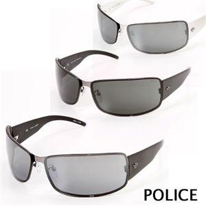POLICE(ポリス) サングラス  8413M-579X/スモークミラー×シルバー&ホワイト
