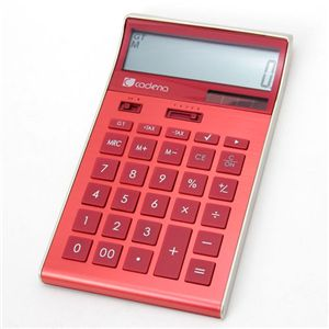 電卓 cadena calculator CCA-104 レッド