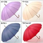 カラフル!16本骨傘 【無地】ネイビー