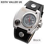 KEITH VALLER UK コンパス レザーウォッチ KV-DCD BK/ブラック