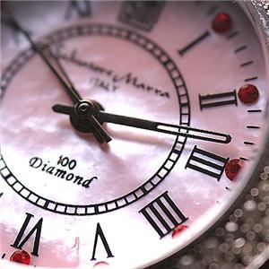 Salvatore Marra 天然ダイヤモンド100石ウォッチ SM6501 ピンクシェル