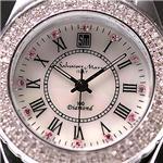 Salvatore Marra 天然ダイヤモンド100石ウォッチ SM6501 ホワイトシェル