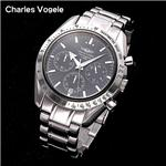 Charles Vogele  クロノグラフ CV-7871-3/ブラック