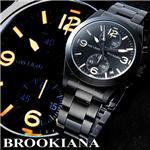 BROOKIANA(ブルッキアーナ) クロノグラフ BLACK NIGHTHAWK 3Hカプセルガスライトシステム