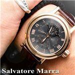 Salvatore Marra(サルバトーレマーラ) トリプルジャンピングセコンド レザーウォッチ SM-8001 シャンパン×ピンクゴールド