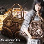 Alessandra olla(アレッサンドラ・オーラ) Wファスナーエディターズバッグ WPKT ブロンズ