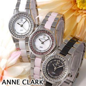 ANNE CLARK(アン・クラーク) レディース 1Pダイヤ ブレスウォッチ  AM1024-17/ピンクシェル