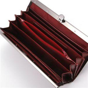 GLAMOROUS DIAMOND(グラマラスダイヤモンド) エナメル クロコダイル風型押し長財布 F0850759 ブラック×レッド