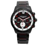 DANIEL MULLER (ダニエルミューラー) 腕時計 100M防水 クロノグラフ メンズウォッチ  DM-2016RD ブラック/レッド