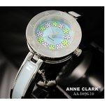 ANNE CLARK(アン・クラーク)レディース腕時計 AA1026-10(文字盤ブルー) 【花柄の文字盤がキュート】