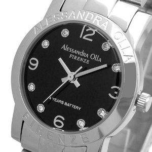 Alessandra Olla(アレサンドラオーラ)腕時計 ラウンドフェイス レディースウォッチ AO-711 ブラック
