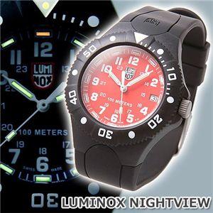LUMINOX(ルミノックス) NIGHTVIEW ラバーウォッチ レッド