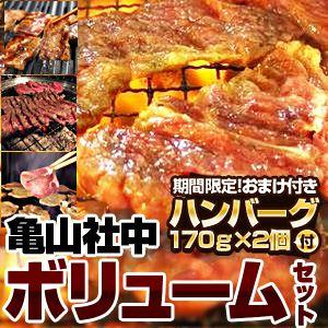 【2012年2月29日まで ハンバーグ2個おまけ付き】亀山社中 焼肉ボリュームセット 2.3kg