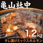 亀山社中 タレ漬けミックスホルモン 1.2kgの詳細ページへ