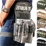 アメリカ SWAT部隊 レッグポーチ BP040NN ブラック