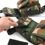 アメリカ SWAT部隊 レッグポーチ BP040NN ウッドランドカモ