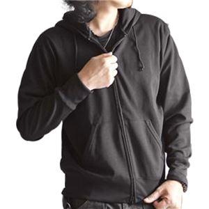 吸汗速乾パーカー ブラック Mサイズ