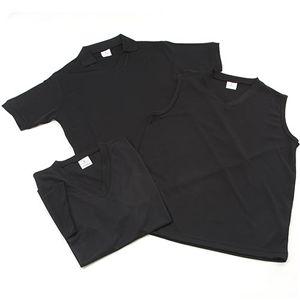 吸汗速乾素材Tシャツ3型セット ブラック XLサイズ