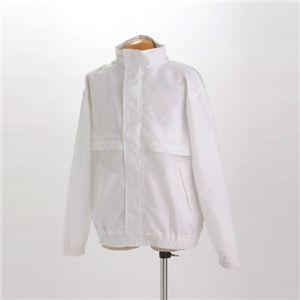 隠れフード付きアクティブJKT ホワイト XLサイズ