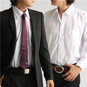 百貨店取り扱いメーカーホワイトワイシャツ ホワイト LLサイズ